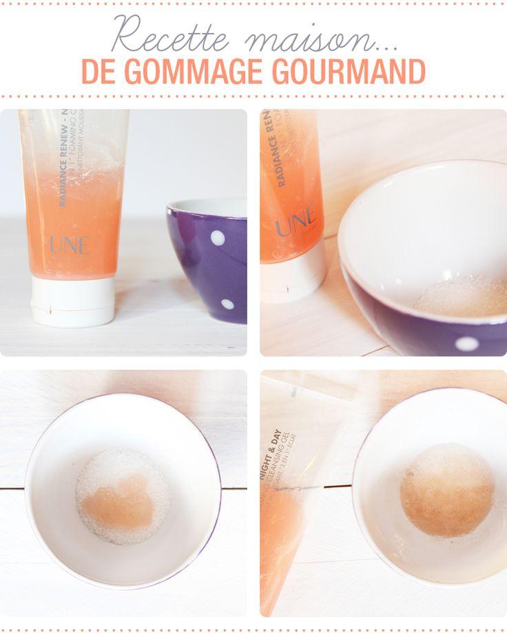 Gommage gourmand fait maison avec le nettoyant UNE Beauty et du sucre- Juliette blog féminin