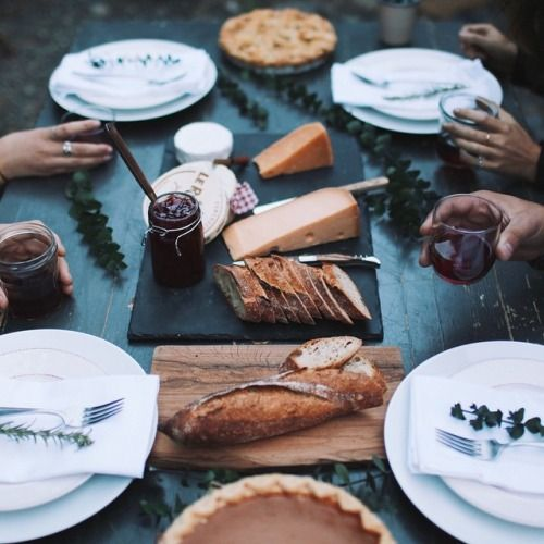 cheese, table, food, friends