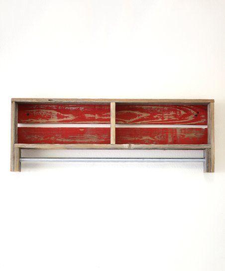 Doug & Cristy Designs Red Towel Rack | zulily
