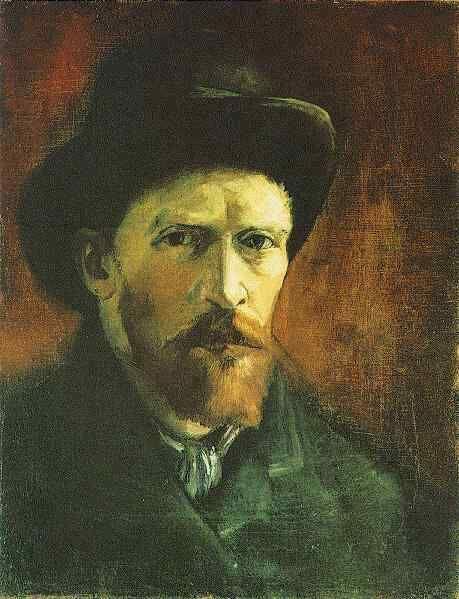 Autorretrato con sombrero de fieltro oscuro, 1886, Van Gogh Museum.