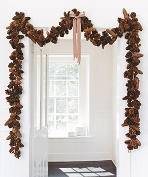 Pinecone garland - anything with pinecones, nuts, berries, can be put out