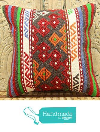 Traditional kilim pillow cover 16x16 Organic Wool Kilim pillow cover Decorative Kilim Pillow cover Kilim Ethnic Pillow cover Tribal Pillow Cover from Kilimwarehouse http://www.amazon.com/dp/B019CNIPF2/ref=hnd_sw_r_pi_dp_Va.Bwb0ADSF8N #handmadeatamazon