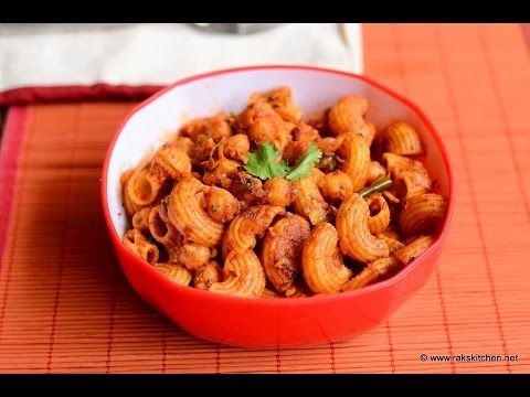 Chana masala pasta recipe | Indian style pasta - Raks Kitchen