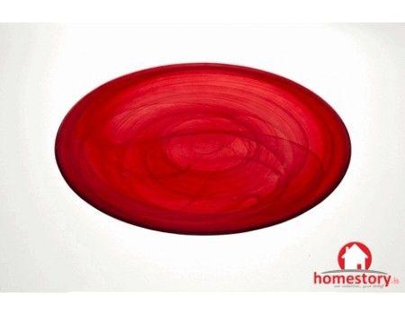 Πιατέλα Alabaster  κόκκινη Φ32,5εκ.