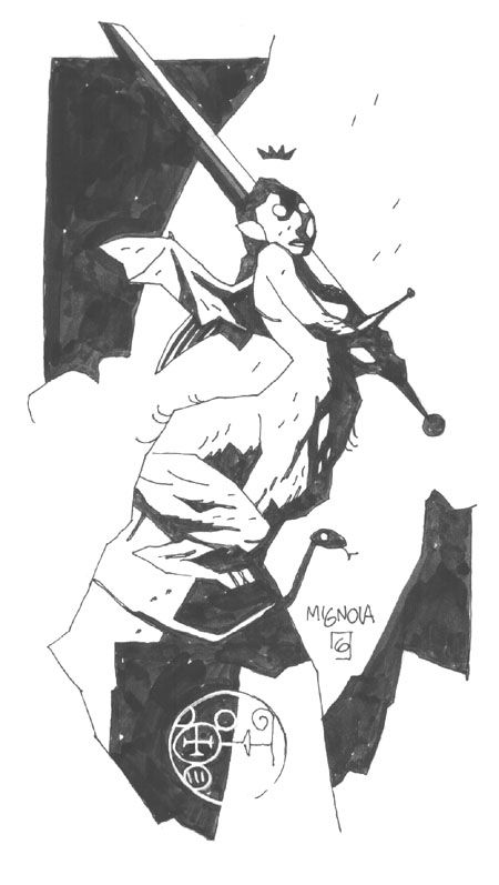 THE SPECTACULAR ART OF MIKE MIGNOLA: greggorysshocktheater: (via Devil Woman, in Neil...