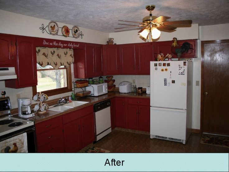 15 best images about kitchen redo on pinterest country for Red country kitchen ideas