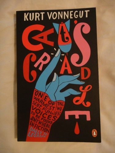 Cat's Cradle by Kurt Vonnegut. Click link for full review: http://imranlorgat.com/2014/06/22/cats-cradle-by-kurt-vonnegut-book-thoughts/