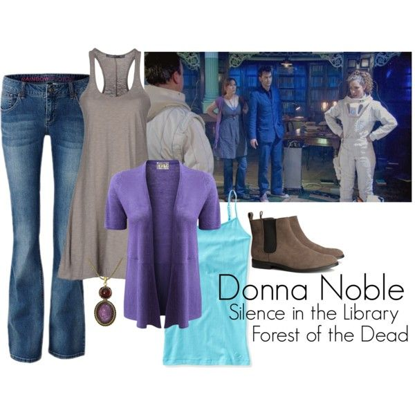 """""""Donna Noble - Silence in the Library/Forest of the Dead"""" by ansleyclaire on Polyvore"""
