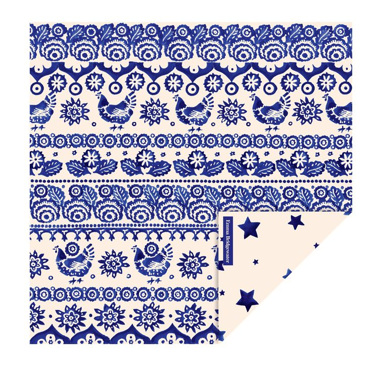 Blue Hen & Border Paper Lunch Napkins