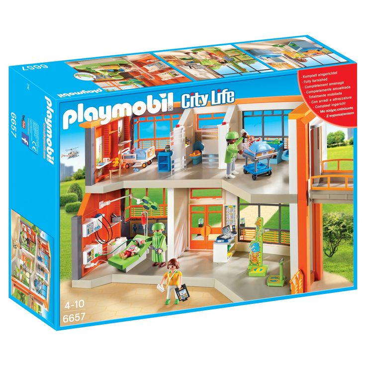 Playmobil Furnished Children's Hospital Playset,