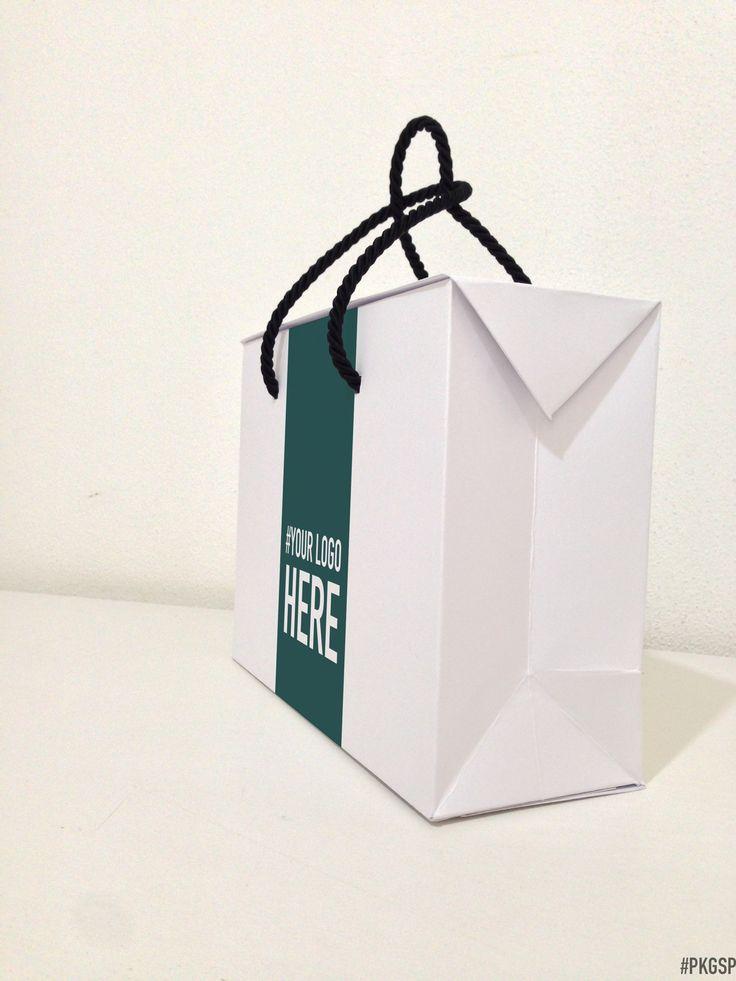 Bag box white pkgsp packaging con immagini scatole