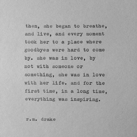 R.M. Drake Typewriter Quote / handtyped quote by WhiteCellarDoor, $10.00