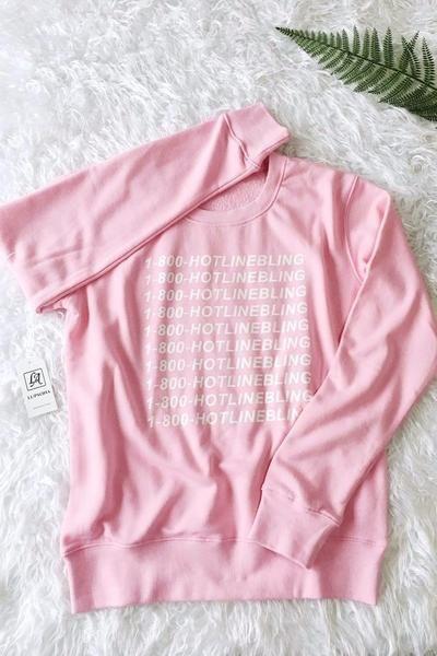 Drake 1-800 HOTLINE BLING Oversized Hoodie/Sweatshirt