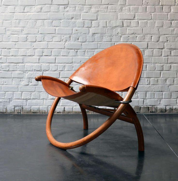 Jorgen Hovelskov; Oregon Pine and Leather 'Circle' Chair by Christiansen & Larsen, 1976.