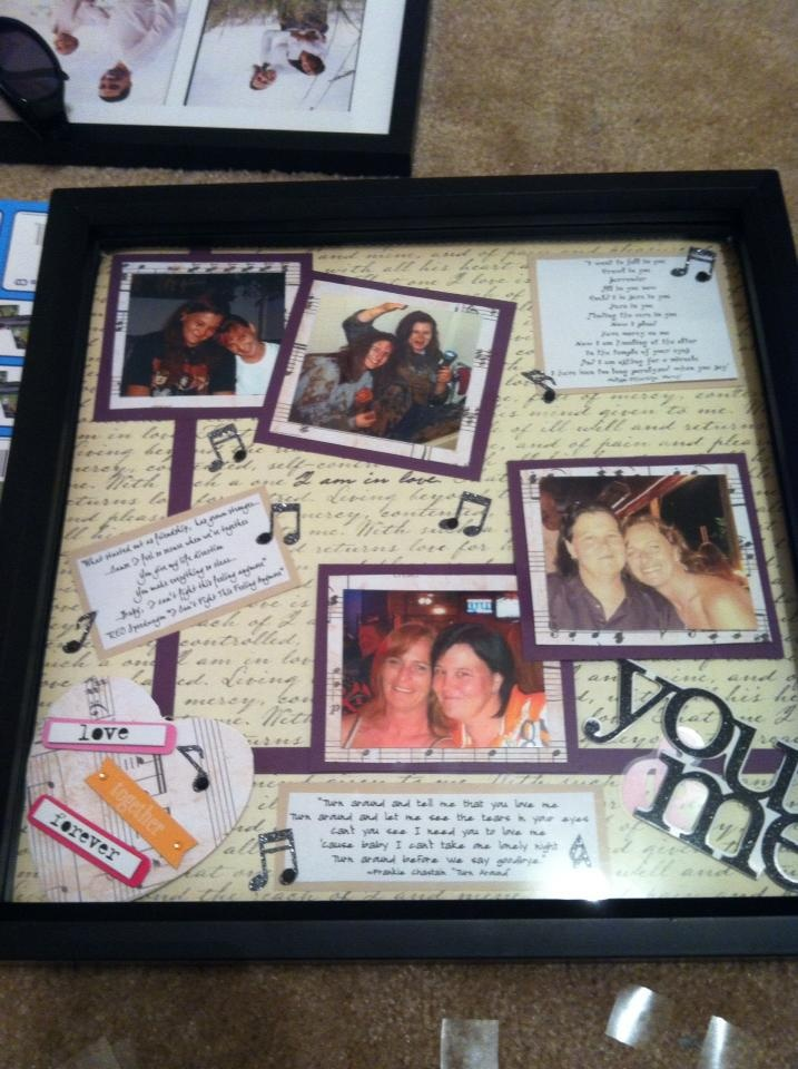 Memory Page I Made For My Friend Tiffany To Present Her Girlfriend Angie
