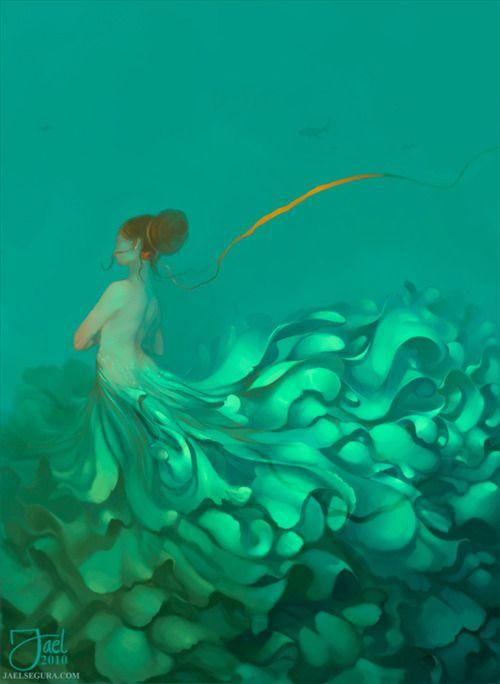 Mermaid with excessive amounts of gorgeous fin-ruffles (Jael Segura)