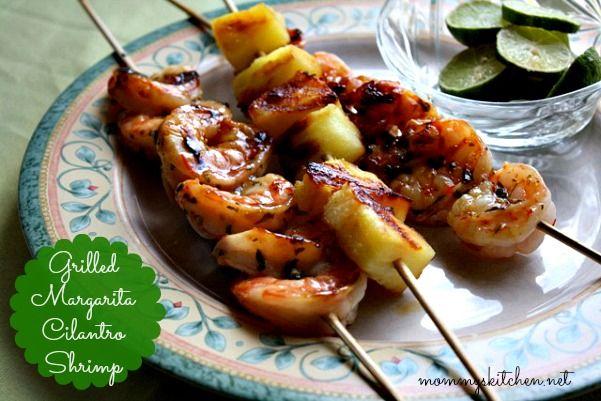 Mommy's Kitchen: Grilled Margarita Cilantro Shrimp {Gourmet Garden Herbs}