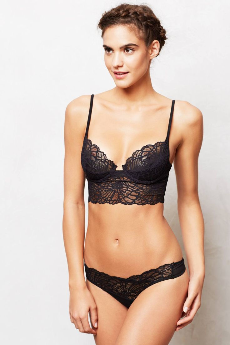 [Anthropologie] Camellia: Love the subtle detail structure without the typical lace look. ($48 bra; $16 lace thong)