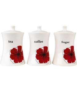 Nice Living Scarlet Poppy Ceramic Storage Jars. Kitchen Storage JarsKitchen  Canister SetsRed Kitchen AccessoriesUtensil ...