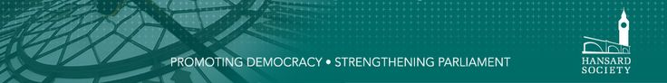 """""""The Hansard Society is the UK's leading independent, non-partisan political research and education charity. We aim to strengthen parliamentary democracy and encourage greater public involvement in politics."""" See Hansard Society's new report on trust in politics,"""