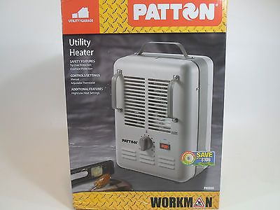 Patton Electric Utility Milkhouse Space Heater 1500w Garage Workshop Job Room