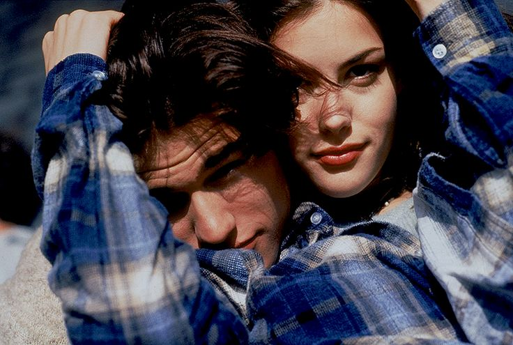 Liv Tyler and Johnny Whitworth behind the scenes of Empire Records (1995)