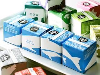 Non Sterilized Milk: designed by Masanori of Adbrain Inc Japan