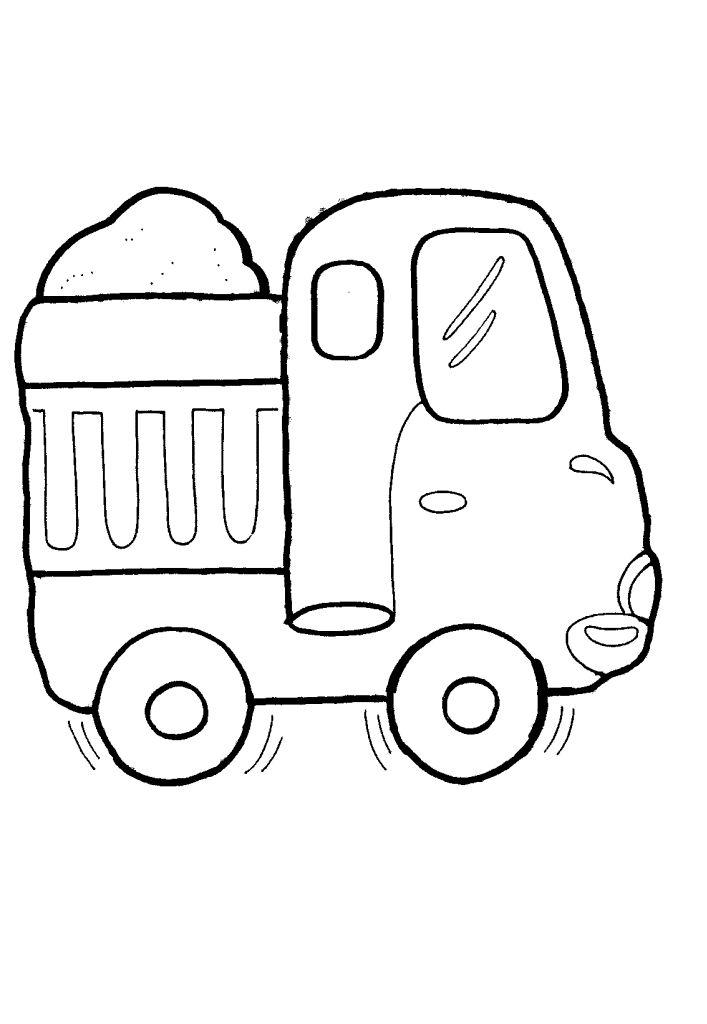 Раскраски машинки для малышей 22