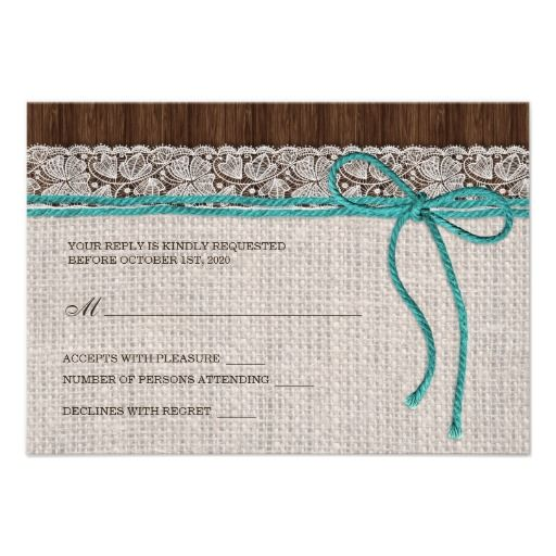 Rustic Wedding Rsvp Card Visit The Zazzle Site For More Http Www Zazzle Com Rf