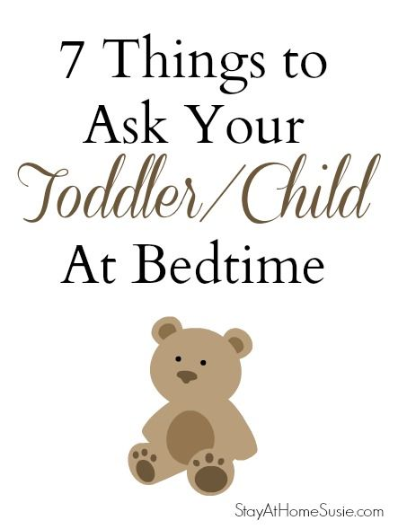 Good things to remember and ask and ask again. Every night until they're grown :)
