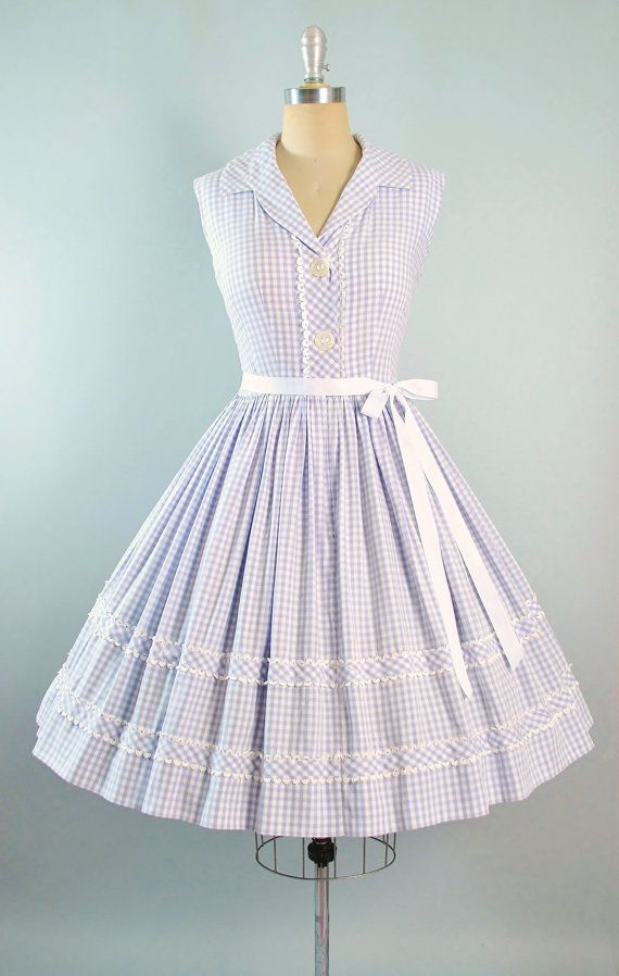 Vintage 50s Dress / 1950s Sundress LAVENDER by GeronimoVintage