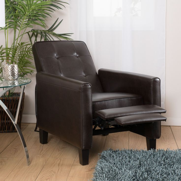 Christopher Knight Home Ethan Tufted Bonded Leather Recliner Chair - Overstock Shopping - Big Discounts on Christopher Knight Home Recliners : small black leather recliner - islam-shia.org