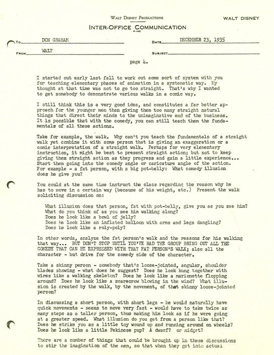 Walt Disney Letter 4 Disneyland \ More Pinterest Disney - inter office communication letter