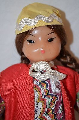 "Vintage Uzbekistan Girl Doll 7"" Soviet Union USSR Russia Russian Central Asia 