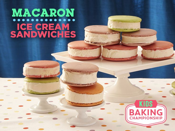 How to Make Macaron Ice Cream Sandwiches — Kids Baking Championship : Get inspired by the show's baking challenge to create this unique dessert.
