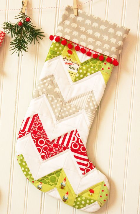 The 25 Best Quilted Christmas Stockings Ideas On