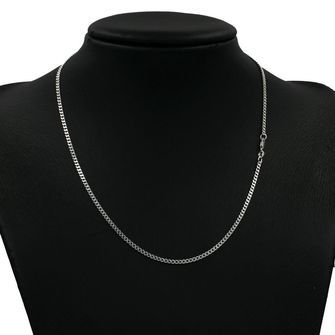 50cm Sterling Silver Round Curb Chain Necklace - SN-CD70