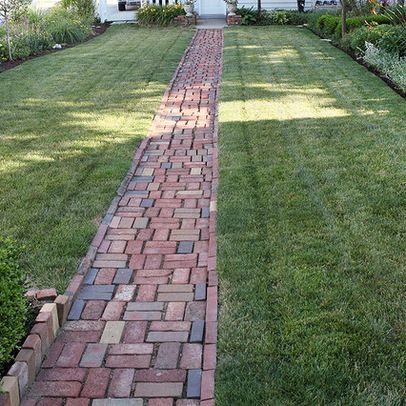 Brick path design ideas pictures remodel and decor Types of pathways in landscaping