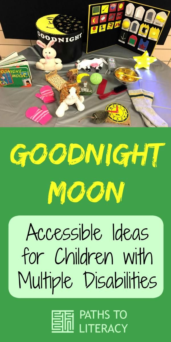 """Tips and activities to make """"Goodnight Moon"""" accessible to children with visual impairments and multiple disabilities"""