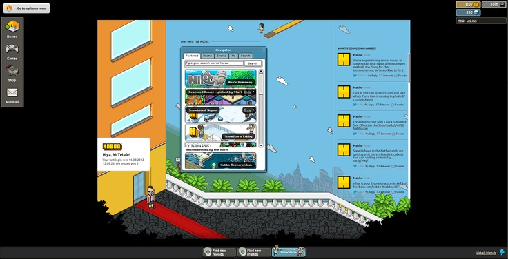 Background of Habbo Hotel (client page)
