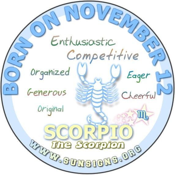 The November 12th birthday horoscope predicts that normally, you meet challenges head on.