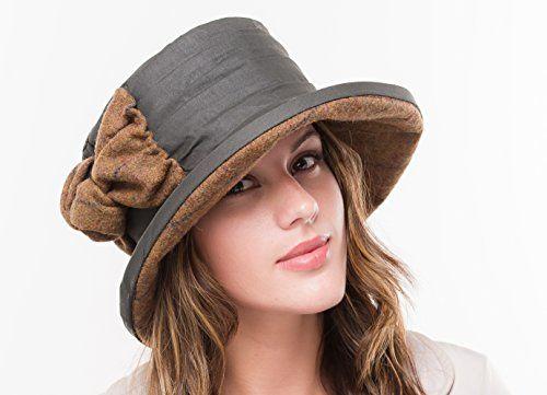 Ladies Green Wax Waterproof Casual Hat Ruby: Amazon.co.uk: Clothing