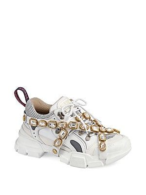 5941f7c5e2c Gucci Sneaker With Removable Crystals