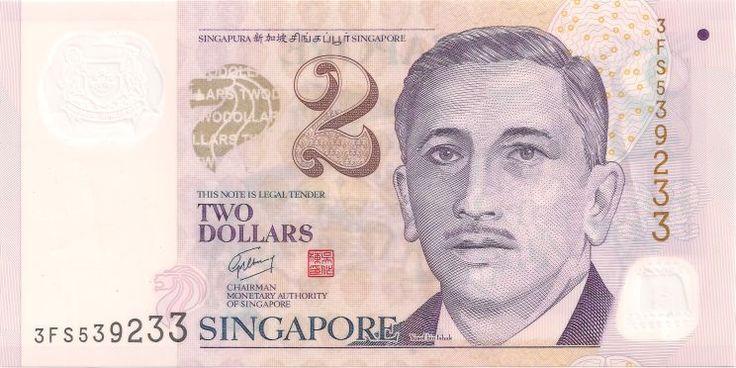 H 7.11mm, B 148.29mm Motivseite: Geldschein-Asien-Singapur-Dollar-2.00-2009