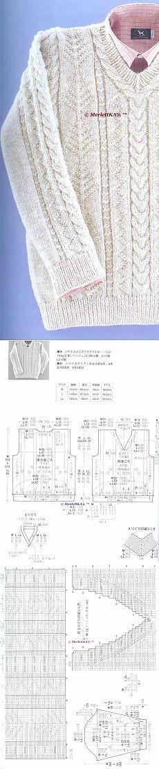 """Вязание спицами - пуловер и кардиган """"dress code"""" - офисный стиль"""