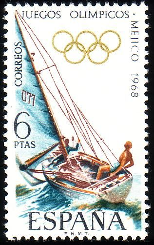 Stamp from Spain | Mexico City 1968, Olympic Games