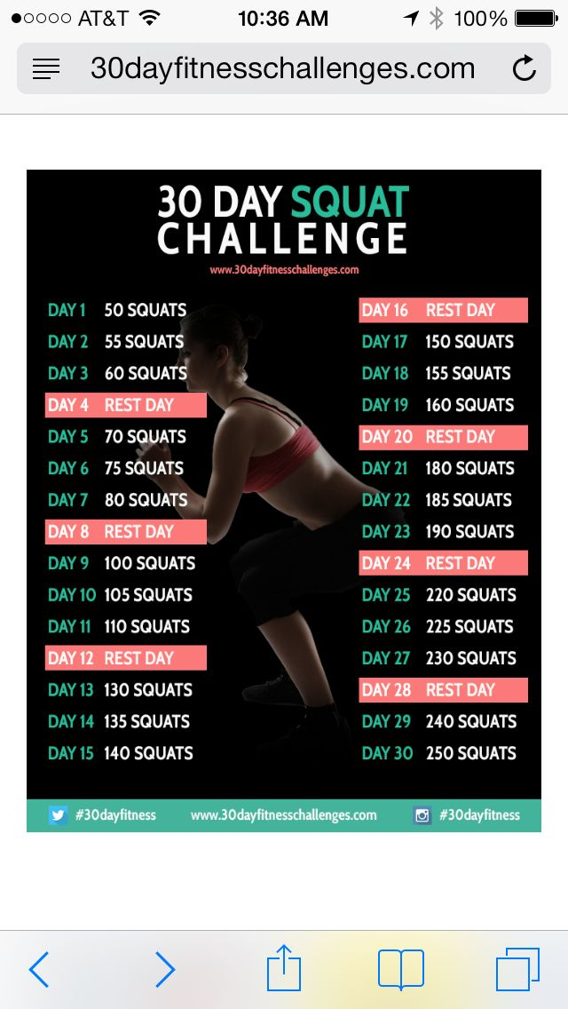 30 day squat challenge - You can feel sore tomorrow or sorry. You choose. This is an ace exercise to tone up those butt and leg muscles like never before. Embrace that burn.