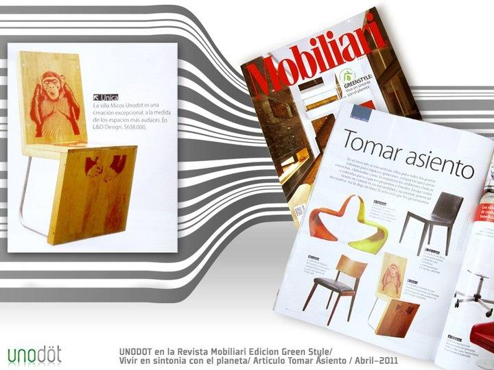 4ta Publicación Unodot en Revista Mobiliari - Edicion Green Style/ Vivir en sintonia con el planeta / Articulo Tomar Asiento (Abril 2011)