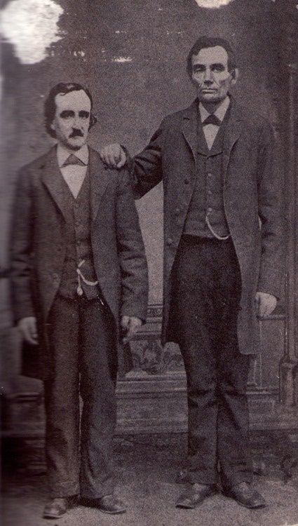 Edgar Allen Poe and Abraham Lincoln together on February 4th of 1849.+ (via+#spinpicks)