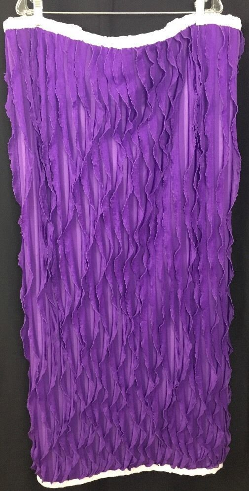 "Purple Baby Sensory Blanket Chenille 47"" x 37"" Purple Lettuce Edge Fabric Infant #Unbranded"